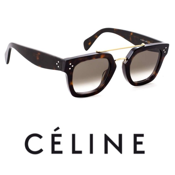 c9798b0abbb New Authentic Celine Bridge Sunglasses Tortoise
